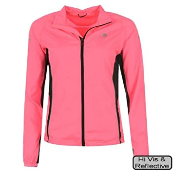 Ladies Hi Viz Pink Run Safe Jacket Women Autumn Winter 2016