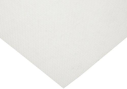 "Polypropylene (PP) Mesh Sheet, Opaque White, 24"" Width, 12"" Length, 1000 microns Mesh Size, 45% Open Area"