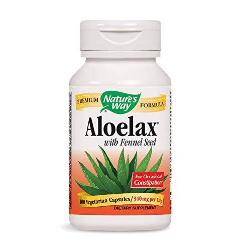 Nature's Way Aloelax with Fennel Seed for Occasional Constipation, 340 mg, 100 Vcaps (Packaging May Vary)