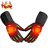Heated Gloves Battery Powered Heat Gloves Rechargeable Heating Gloves Kit Unisex,Touchscreen Sports Outdoor Recreation Heated Gloves Waterproof Climbing Hiking Camping Handwarmer,Black
