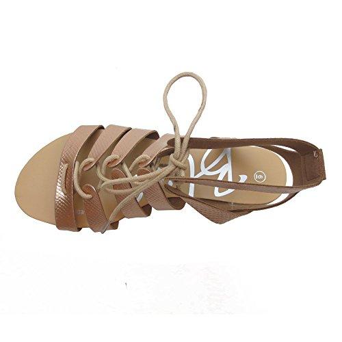Sandalo Estivo Moda Donna Mulfa Rosa / Oro Rosa / Oro