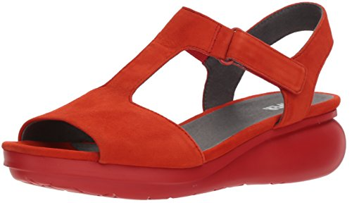 Camper Women's Balloon K200612 Wedge Sandal, red, 40 M EU (10 US)