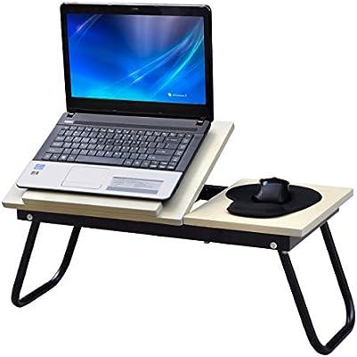 Mesa para ordenador portátil revisalo ahora para sofá o cama supletoria plegable portátil regazo bandeja de escritorio para desayuno con función de atril