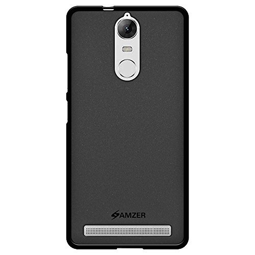 AMZER Pudding Soft Gel TPU Skin Fit Case Cover for Lenovo K5 Note - Black
