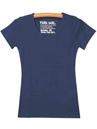雇った個人ガラス(パークガール) PARK GIRL 無地クルーネック半袖カットソー レディース 大きいサイズ S/M/L/LL/3L 5459954600 (S, ネイビー)