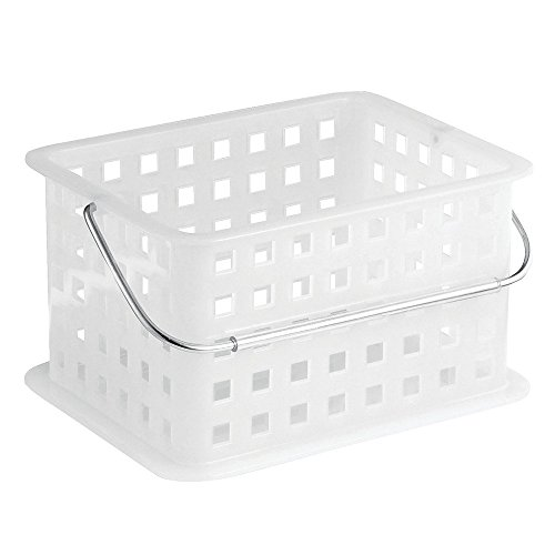 InterDesign Storage Organizer Basket, For Bathroom, Health And Beauty  Products   Small, Frost