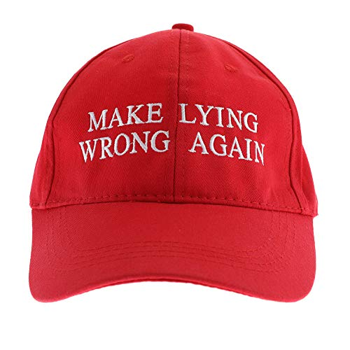 Purple GO2 Make Lying Wrong Again Embroidered Ball Cap(red) -