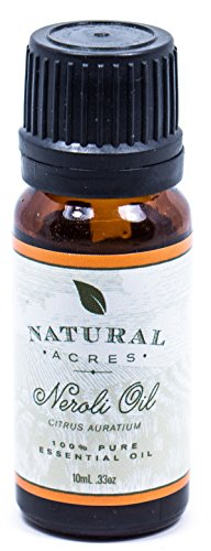 Natural Acres Neroli Essential Oil 100% Pure Therapeutic Grade Neroli Oil for Aromatherapy, Healthy Skin, Massage and Relaxation - Skin Inhalation Therapy