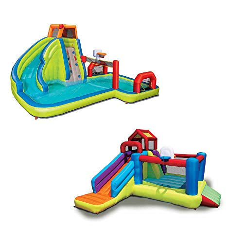 2-in-1 Ultimate Combo Pack (Aqua Sports Water Park & Climb 'N Bounce Clubhouse)