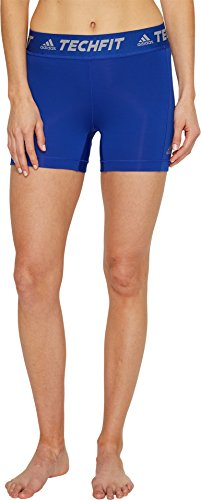 adidas Women's Soccer Techfit Base Short Tights, Bold Blue/White, Large