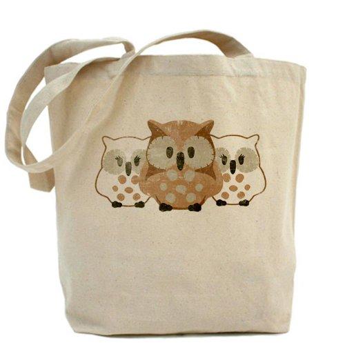 CafePress sacchetto borsa fasciatoio, motivo gufi vintage