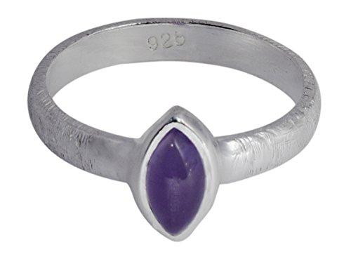 Banithani 925 Bague en argent sterling de pierres précieuses améthyste exclusive indien bijoux fantaisie