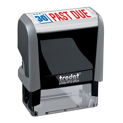 - Past Due Trodat Printy 4912 Self-Inking Two Color Stock Message Stamp