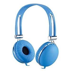 Premium Over-Head Stereo Earphones Headset Headphones w/ Microphone for HTC One M8S/ One M9/ One (M8)/ One (E8)/ One/ One (M8) for Windows/ Butterfly 2/ Desire EYE (Blue) + MYNETDEALS Stylus
