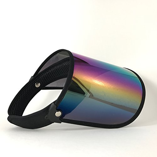 (Paparazzi Visor for Face Sun Protection (Shiny Transparent Plastic) - Adjustable Angle, One Size Fits Most (Spectrum)