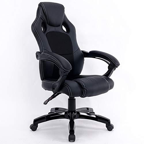 GoYisi WKJ-105 0653 dator kontorsstol hem spelstol roterande lyftstol med nylonfötter (svart) (färg: vit) SVART