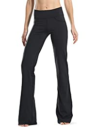 "28"" 30"" 32"" 34"" Inseam Regular Tall Bootcut Yoga Pants, 4 Pockets, UPF50+"