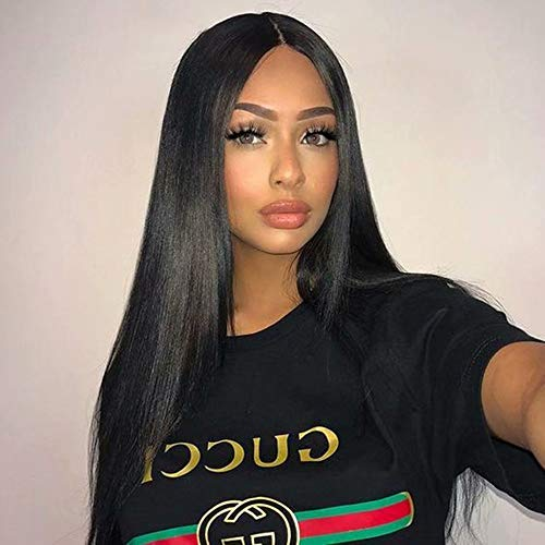 Maxine 360 Lace Frontal Human Hair Wigs With Baby Hair Virgin Brazilian straight Lace Wig Human Hair 100% Unprocessed Virgin Hair 130 Density (24
