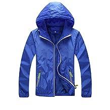 Unisex Cycling Waterproof Jacket Running Nightrider Hooded Coat Windbreaker Skin Coat