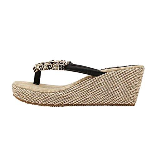 Dear Time Women High Fashion Sandal Flip Flop Black p3mXqhdcXs