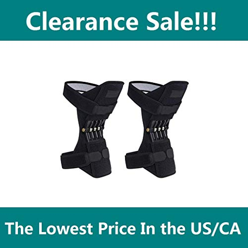 (Menlore Knee Brace,Powerlift Joint Support Knee Pads Powerful Rebound ⭐⭐⭐⭐⭐ Spring Force,Meniscus Tears, ACL, MCL Injuries, Exercise, Running)