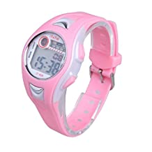 Moking Children Waterproofed Boys Girls Swimming Sports Digital Wrist Watch (pink)