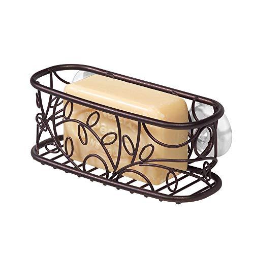 mDesign Kitchen Sink Suction Holder for Sponges, Scrubbies, Soap - -