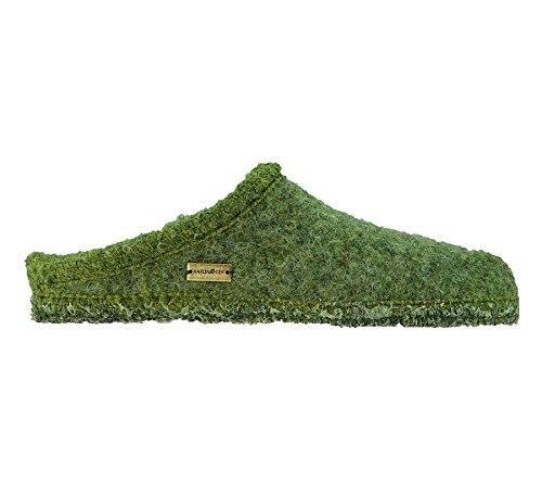 Haflinger pour femme chaussons chauffants vert walktoffel 617007–0-6097 trumpf