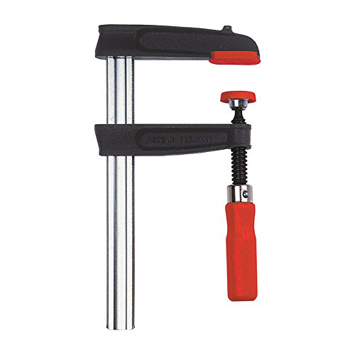 Bessey TPN40S10BE Screw Clamp Tpn-Be 15.75In/3.94In of Cast-IRON, Black/Red/Silver