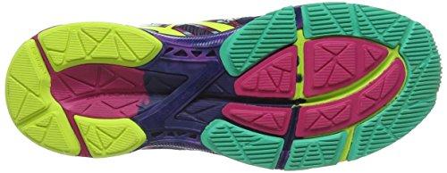 ASICS Gel-Noosa Tri 10 - Zapatillas de deporte para mujer Azul (Navy / Flash Yellow / Hot Pink 4907)