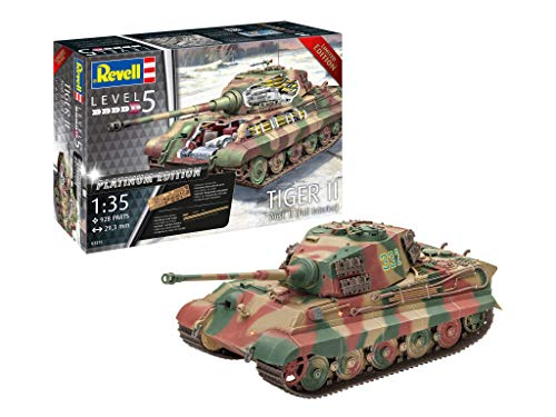 Revell 03275, Tiger II Ausf B (with Full Interior), 1:35 Scale Limited Edition Plastic Model Kit (Model Edition Plastic)