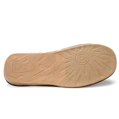 SAMSAY Unisex PU Leather Soft Plush House Slippers Shoes Rose sbuJ1VoH1