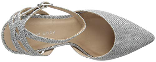 Silver Bout Femme Silver New fermé 92 Look Tupper Escarpins qppZt0g