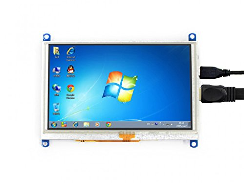 5inch Raspberry pi LCD HDMI Display Module Resistive Touch Screen 800480 High Resolution HDMI Interface Supports Multi mini-PCs Multi Systems by waveshare (Image #1)