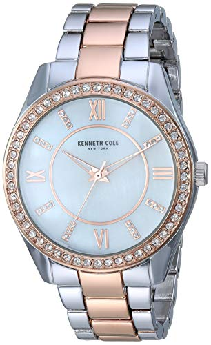 Kenneth Cole New York Women's Classic Stainless Steel Analog-Quartz Watch with Alloy Strap, Two Tone, 17.7 (Model: KC50739005)