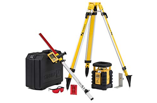(Stabila LAR350 Fully Self-Leveling Rotary Laser 9-piece Kit Interior/Exterior Horizontal, Vertical Levelling, Dual-Slope, Section Mode, LED Assist, Manual Alignment, Motion Control and Plumb Lines)