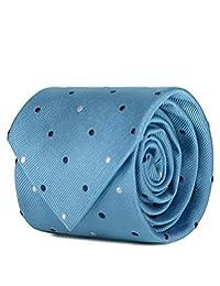 SCAPPINO Corbata Brera Unitalla con Diseño De Puntos Azul Claro Unica