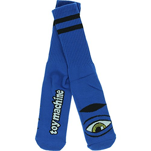 Toy Machine Sect Eye (Toy Machine Sect Eye III Crew Socks-Aqua - Single Pair)