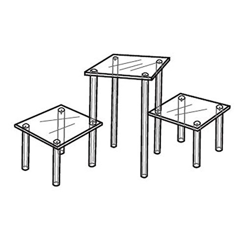 The Competitive Store Acrylic 3-Tier Table Display for Counter Tops - 6'' Shelves -8'' H