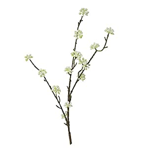 MaxFox Sale on!Artificial Flower Gypsophila Fake Silk Floral Make Long Stem Bouquet in Vase for Party Home Decor (White) 111