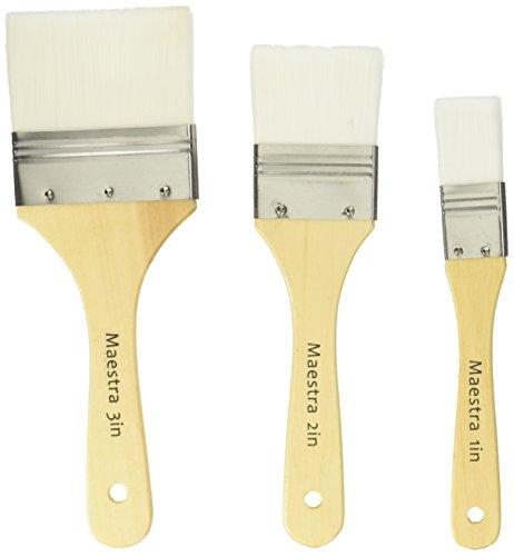 LINZER/AMERICAN BRUSH AMU 1023 White Flat Utility Paint Brush Set (3 - Brush Utility Set