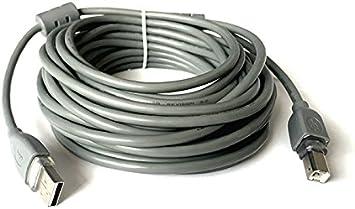 Cable USB 2.0 a/b macho Cable alargador para impresora 10 metros
