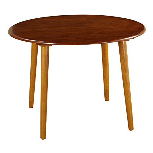 Target Marketing Systems 42-Inch Round Two-Toned Florence Table with Tapered Legs, Medium Oak/Light Oak (Dining Florence Round Table)