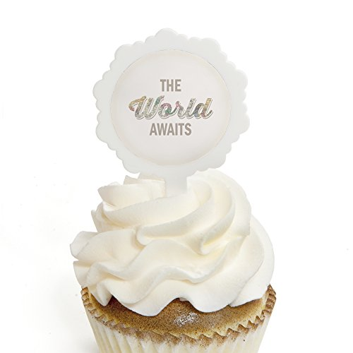 World Awaits - Cupcake Picks with Stickers - Travel Themed G