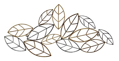 Fetco Cayla Bronze Leaves Metal Wall Art,