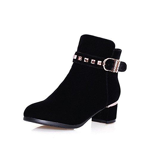 AdeeSu Womens Buckle Rhinestones SXC02025 Comfort Fashion Suede Boots SXC02025 Rhinestones B0785G6LZB Shoes 3dce06