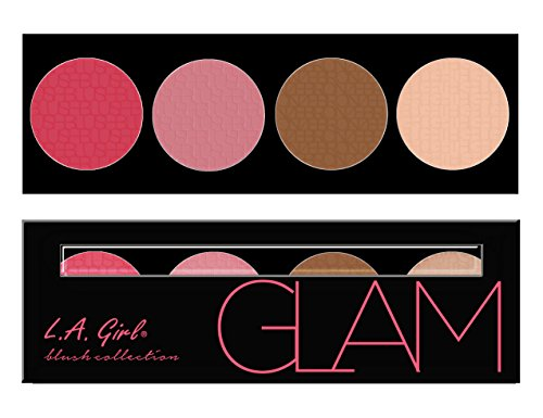 L.A. Girl Beauty Brick Blush Collection, Glam, 0.77 Ounce