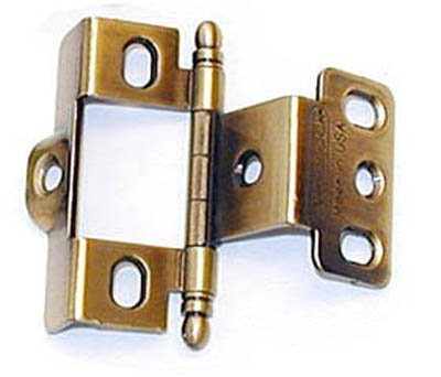 Amerock Full Inset Full Wrap Free Swinging Ball Tip Hinge For 3/4 Doors Antique English Single by Amerock ()