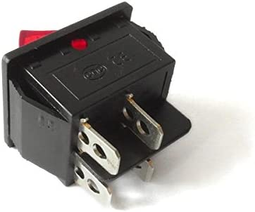 Interruptor basculante 250V 15A 125V 20A CA CQC KCD4 Iluminado Rectangular Amplio Modelo SCH45