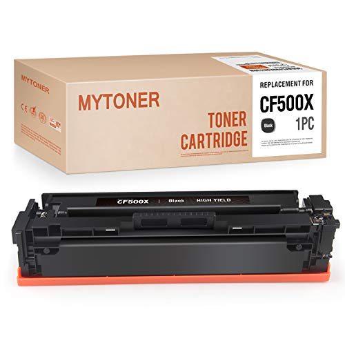 MYTONER Compatible Toner Cartridge Replacement for HP 202X CF500X 202A CF500A High Yield Toner for HP Color Laserjet Pro MFP M281fdw M281cdw M254dw M280 M254 M281DW Printer Ink (Black,1-Pack)